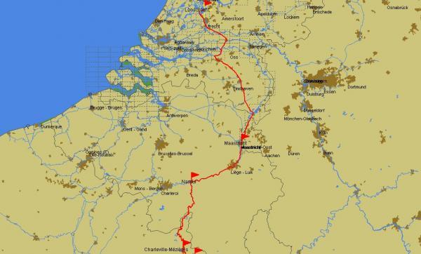 Itinéraire: partie Bénélux